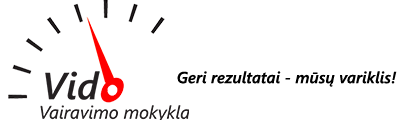 Vido vairavimo mokykla Logo